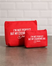 Personalised Perfect Eyebrows Cosmetic Bag