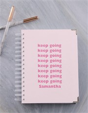 Personalised Keep Going Diary
