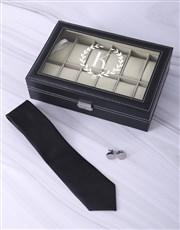 Personalised Wreath Monogram Watch Box