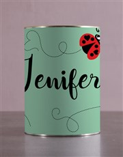 Personalised Ladybug And Lindt Tin