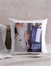 Personalised Love is Kind Cushion