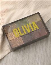 Personalised Modern Name Herbal Soap Gift Box