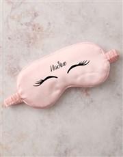 Personalised Pink Lashes Eye Mask