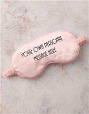 Personalised Message Pink Eye Mask