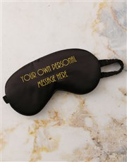 Personalised Message Black Eye Mask