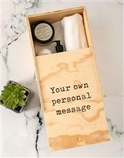 Personalised Rooibos Bath Time Crate