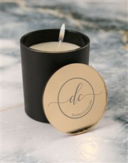 Personalised Golden Vanilla Scented Candle Set
