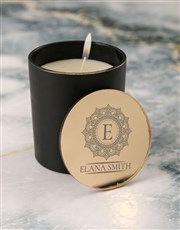 Personalised Mandala Vanilla Scented Candle Set