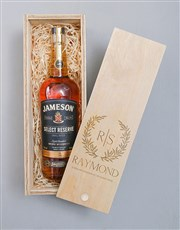 Personalised Wreath Jameson Crate