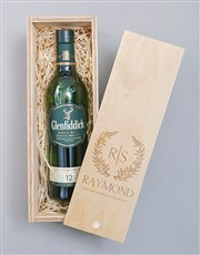Personalised Wreath Glenfiddich Crate