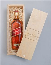 Personalised Classic Johnnie Walker Red Crate