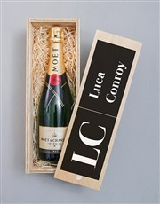 Personalised Bold Initials Pongracz Crate