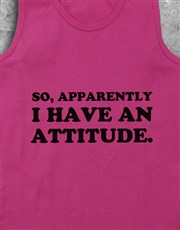 Personalised Attitude Racerback and Water Bottle