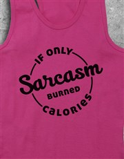 Personalised Sarcasm Racerback and Water Bottle