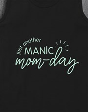 Personalised Manic Mom Day Racerback and Bottle