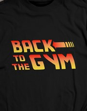 Personalised Back to the Gym T Shirt and Bottle