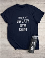 Personalised Intense Workout T Shirt and Bottle