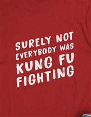 Personalised Kung Fu Fighting T Shirt and Bottle