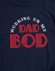 Personalised Dad Bod T Shirt and Water Bottle