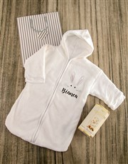 Personalised Bunny Baby Gown