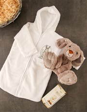 Personalised Cuddly Bunny Baby Gown