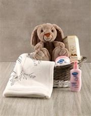 Personalised Bunny Sketch Baby Blanket