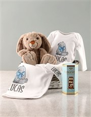 Personalised Watercolour Bunny Clothing Set
