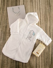 Personalised Blue Bunny Baby Gown