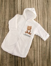 Personalised Bear Love Baby Gown