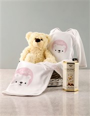 Personalised Pink Bear Baby Clothing Gift
