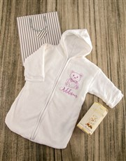 Personalised Teddy Sketch Baby Gown