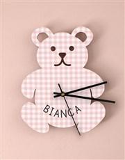 Personalised Baby Girl Nursery Clock