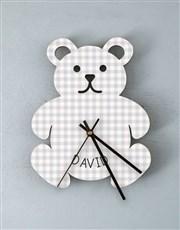 Personalised Baby Boy Nursery Clock
