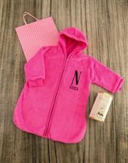 Personalised Baby Sleeping Hamper in Pink