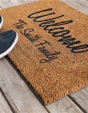 Personalised Welcome To Our Home Doormat