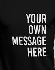 Personalised Black Message Block T Shirt
