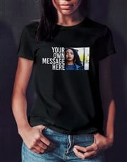 Personalised Photo Message Ladies T Shirt