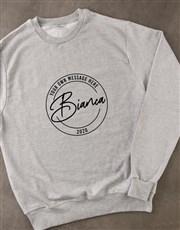 Personalised Stamp Grey Sweatshirt