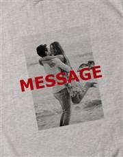 Personalised Photo Overlay Grey Sweatshirt