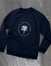 Personalised Palm Tree Navy Sweatshirt