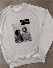 Personalised Photo Block Grey Sweatshirt