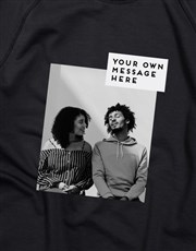 Personalised Photo Block Black Sweatshirt