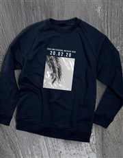 Personalised Memory Time Navy Sweatshirt