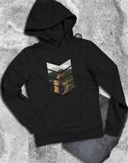Personalised Pattern Photo Black Hoodie