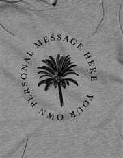 Personalised Palm Tree Grey Hoodie