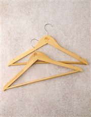 Personalised Mr And Mrs Hanger Set