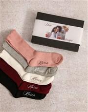 Personalised Beautiful Mom Frills Sock Pack