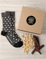 Personalised Happy Fathers Day Sock Hamper