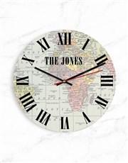 Personalised Map Clock