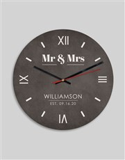 Personalised Mr And Mrs Clock